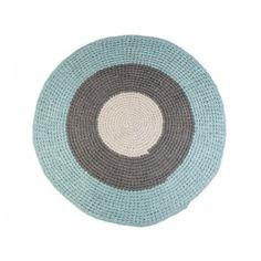 Sebra Teppich blau grau - TakaTomo.de