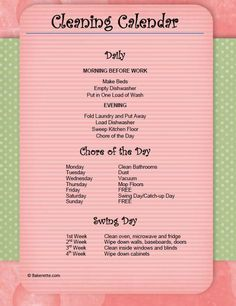 Keep your house clean (yes, deep cleaned, even!) with one chore per day, includes a free printable list. This is so doable and covers everything!