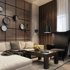 We should make our living room a comfort zone, not everyone use it only for guests, some of us looveee to spent our free. Modern Interior, Home Interior Design, Living Room Designs, Living Room Decor, Drawing Room Interior, Wall Cladding, Office Interiors, Wall Design, Decoration