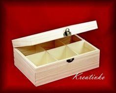 Krabica na čaj: 6-priehradková (Bessie)