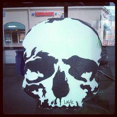 #pääkallo #skull #streetart #Hakaniemi