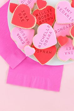Influential Women Galentine's Day Cookies Valentines Day Cookies, Valentines Day Party, Valentine Day Love, Valentine Day Cards, Vintage Valentines, Valentinstag Party, Saint Valentine, Valentine's Day Quotes, Cakepops