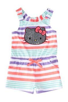Stripe  Romper  (Toddler  Girls)