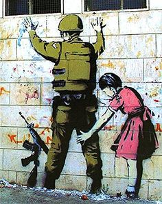 This is a Banksy Soldier Pat Down poster reproduction. It measures x in size and ships rolled. Another awesome awesome piece of art from Banksy. What message does it convey to you? Street Art Banksy, Murals Street Art, 3d Street Art, Amazing Street Art, Art Mural, Street Artists, Graffiti Artists, Arte Banksy, Banksy Art