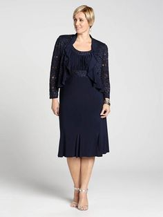 Laura Plus: for women size 14 . Make it a night to remember with this gorgeous set! A beautiful dress that features beaded waist detailing is capped off by an elegant lace