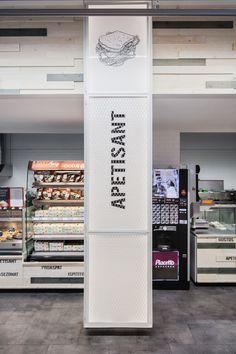 studio ae   Mega Image Sema Parc Food Signage, Signage Design, Display Design, Store Design, Office Wall Design, Pillar Design, Supermarket Design, Column Design, Shop Front Design