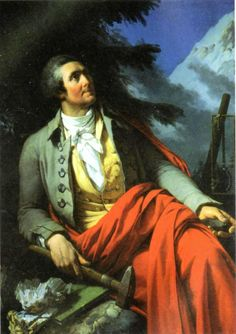 1760 - Alpinism is invented. The Genevan naturalist, Horace Bénédict de Saussure, offered a large reward to anyone who could find the way up Mont Blanc. 18th Century Fashion, Museum, Culture, Mountaineering, Romantic, Saint, Europe, Portraits, Painting