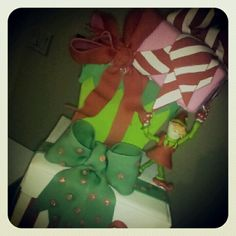 Merci Beaucoup Cakes...The Christmas Elf, Christmas package cake, by Reva Alexander-Hawk