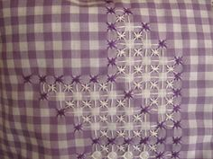 ~ Embroidery on Gingham for Stars ~