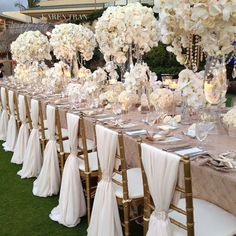 White and gold - love those chairs