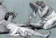 Bacchus Art | Lawrence Alma-Tadema Bacchus and Silenus Art Print Poster - 13x19
