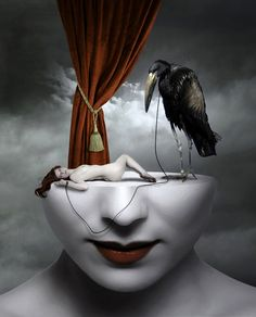dark, surreal, brooding art. #art #artwork #surrealism…