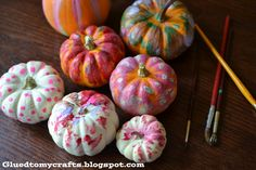 Pretty Painted pumpkin project to do with the littles from Stacey at Glued to My Crafts