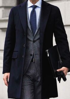 black coat #coat #menstyle #menswear