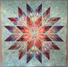 Prismatic Star, Quiltworx.com, Made by Trish Harrison