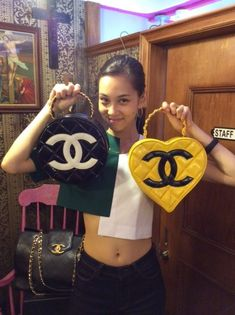 black and yellow chanel handbags ✰insta: Burberry Handbags, Chanel Handbags, Luxury Handbags, Soft Ghetto, Kiko Mizuhara, Over The Shoulder Bags, Japanese Models, Roger Vivier, Kawaii Cute