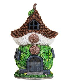 Look at this #zulilyfind! 12'' Solar Pincone Cottage by Exhart #zulilyfinds