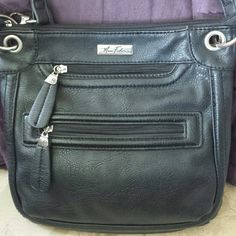 MARC FISHER CROSS-BODY BAG PRE-OWNED, VERY GENTLY USED! IF YOU HAVE ANY ADDITIONAL QUESTIONS, PLEASE ASK BEFORE YOU PURCHASE! THANK YOU ? Marc Fisher Bags Crossbody Bags