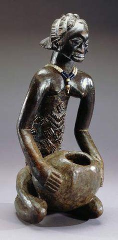 Luba Mboko Bowl-Bearing Figure, DR Congo
