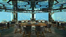 Sea Underwater Restaurant, Anantara, Kihavah - Maldives