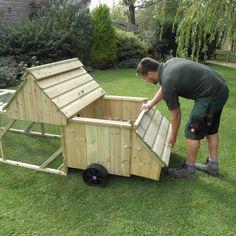 Ranger 6 Chicken Coop with roof open