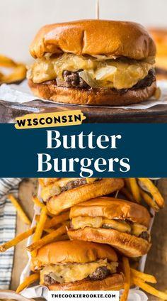 Hamburgers On The Stove, Burgers On Stove Top, Best Hamburger Recipes, Best Stove Top Burger Recipe, Wisconsin Butter Burger Recipe, Stovetop Burgers, Juicy Burger Recipe, Butter Burgers, Burger Seasoning