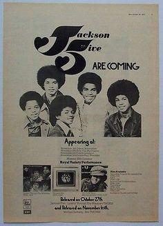 Michael JACKSON FIVE 1972 Poster Ad UK CONCERT TOUR - http://www.michael-jackson-memorabilia.com/?p=14870