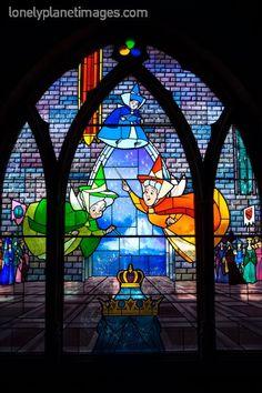 Sleeping Beauty stained glass window