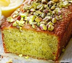 Pistachio and Almond Cake Food Cakes, Good Food Channel, Modern Cakes, Pistachio Cake, Plum Cake, Loaf Cake, Almond Cakes, Savoury Cake, Clean Eating Snacks