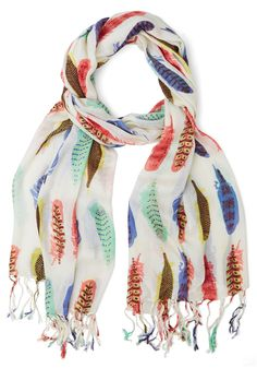 Prettiest Girl in the Plume Scarf | Mod Retro Vintage Scarves | ModCloth.com