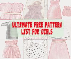 Free Sewing Patterns for Boys and Girls!: Free Girl Patterns