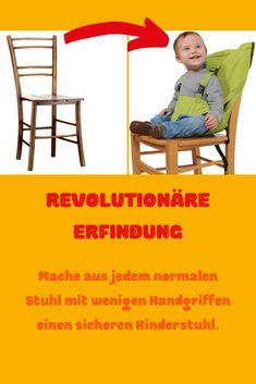 Der Einfach-Sitz ist eine revolutionäre Erfindung. Verabschiede dich von der ärgerlichen Jagt nach Hochstühlen und keimverseuchten Oberflächen.   Dieser Hochsitz-Aufsatz ist gemeinsam mit Eltern konzipiert worden und eignet sich ideal für unterwegs. Mach mit nur wenigen Handgriffen aus einem normalen Sitz einen vollwertigen Kinderhochsitz, auf dem dein Baby gemütlich und sicher sitzen kann.  ✅ Ideal für unterwegs Furniture, Home Decor, Inventions, Parents, Simple, Kids, Interior Design, Home Interior Design, Arredamento