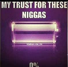 My trust for these niggas
