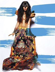 Amazing --> Indian textiles. ♥ {Preeti Dhata and Ninja Singh by Suresh Natarajan for Vogue India}