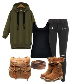 """street fashion"" by jenny-oakley ❤ liked on Polyvore featuring Paige Denim, City Chic, VIPARO and Pieces"