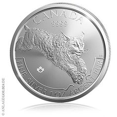 """Die Royal Canadian Mint hat die zweite Münze aus der Predator-Serie ausgegeben: Die 1oz-Silbermünze """"Luchs"""" (englisch: """"lynx"""") Luchs 1oz Silbermünze auf Maple Leaf Ronde Die…"""