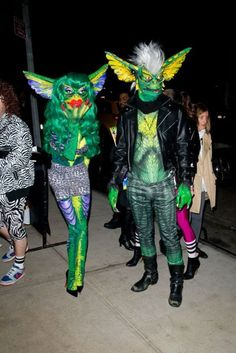 Gremlin costumes!  Awesome..I have never seen any before these! Don't feed after Midnight!  Oh wait.  My bad.  :P
