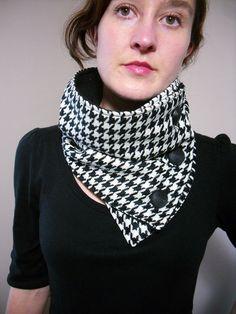 Tour de cou pied de poule - houndstooth scarf