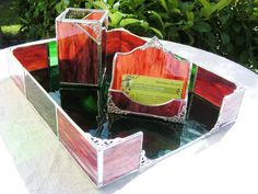 Gorgeous Stained Glass Desk Set color pictured by MoreThanColors