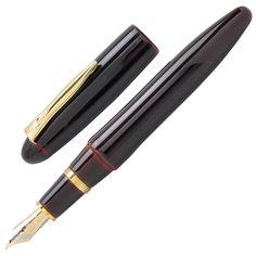 PLATINUM IZUMO TAMENURI Akatame Red Edition Bombay Black Wood Tagayasan Lacquer Urushi Body 18K Gold Nib Fountain Pen *LIMITED EDITION* - Engeika Finest Shop