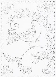 Tin Punch Patterns :: P 1022 Bird on a Branch 12 x 16 - Pierced Tin Designs Crochet Doily Patterns, Hand Embroidery Patterns, Beading Patterns, Embroidery Stitches, Embroidery Designs, Crochet Doilies, Pvc Pipe Crafts, Aluminum Can Crafts, Punched Tin Patterns