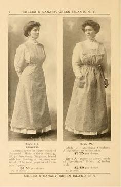 Edwardian Dress, Edwardian Fashion, Edwardian Era, 1918 Fashion, Edwardian Clothing, Victorian Aprons, Victorian Maid, Aprons Vintage, French Maid Fancy Dress