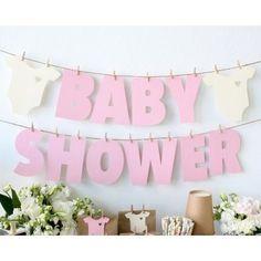 Guirnalda de Baby Shower con letras de papel - http://manualidadesparababyshower.net/guirnalda-de-baby-shower-con-letras-de-papel/