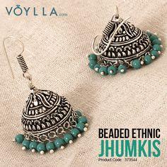 presents you for your Product Code: 373544 Indian Jewelry Earrings, Fancy Earrings, Jewelry Design Earrings, Silver Jewellery Indian, Indian Wedding Jewelry, Fashion Earrings, Earrings Handmade, Fashion Jewelry, Fancy Jewellery