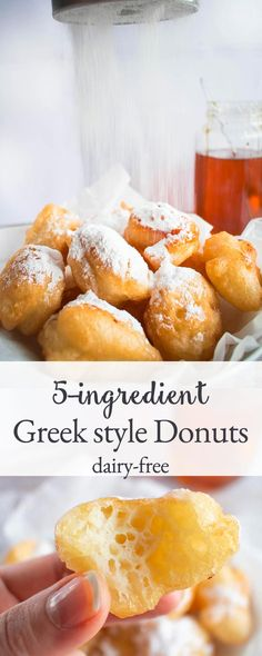 These Greek Style Donuts are made with 5 basic ingredients you already own. Very easy, simple and quick to make.