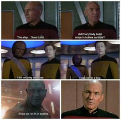 Get out your FACEPALM, Captain. Star Trek: The Next Generation Guardians of the Galaxy Patrick Stewart Gaurdians Of The Galaxy, Ship In Bottle, Good Lord, Smiles And Laughs, Geek Out, Geek Culture, Marvel Cinematic Universe, Star Trek, Memes