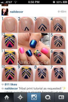 Tribal nails DIY