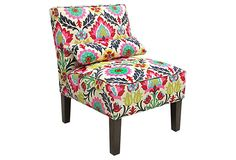 THIS is the fabric I want to recover our paisley chair in!!  Waverly Santa Maria Desert Flower - yay.