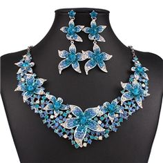 ericdress.com offers high quality  Ericdress Exaggerate Colorful Diamante Jewelry Set Jewelry Sets unit price of $ 31.34.