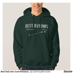 Best Dad 100% Love Patience Funky Father Hoodie - Stylish Comfortable And Warm Hooded Sweatshirts By Talented Fashion & Graphic Designers - #sweatshirts #hoodies #mensfashion #apparel #shopping #bargain #sale #outfit #stylish #cool #graphicdesign #trendy #fashion #design #fashiondesign #designer #fashiondesigner #style